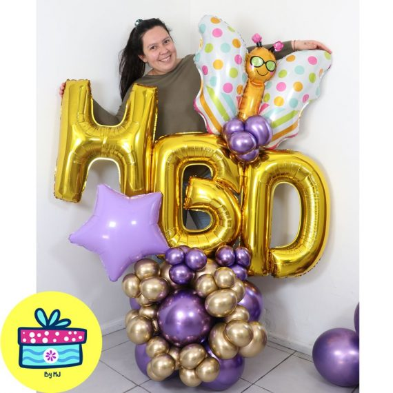 2-composicion-globos-Balloon Bouquets HBD Mariposa-Decoraciones-globos-chile-Para-Regalar-Chile